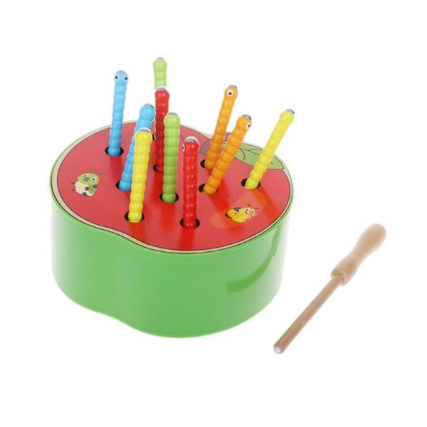 a0d227030d311 Nuevos juguetes de madera magnéticos Atrapan el juego de lombrices Niños  que aprenden juguetes educativos