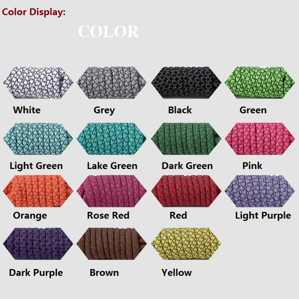 top popular 120CM Long 5Pairs Lot Round Sneakers Starry Reflective Warning Shoelaces For Sports Casual Canvas Shoes 2021