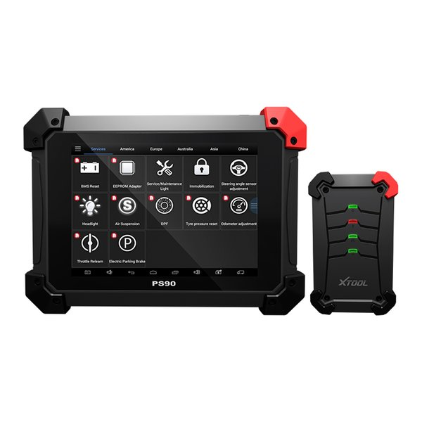 Xtool PS90 Diagnostic Scan Tool Immo/ Mileage Adjustment/Key Programmer/EPS Bluetooth/Wifi
