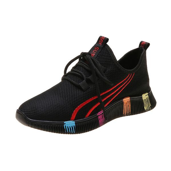 2019 marque Sneaker automne nouvelles chaussures pour femmes version coréenne de chaussures de course de loisirs réseau respirant polyvalent de loisirs 5253