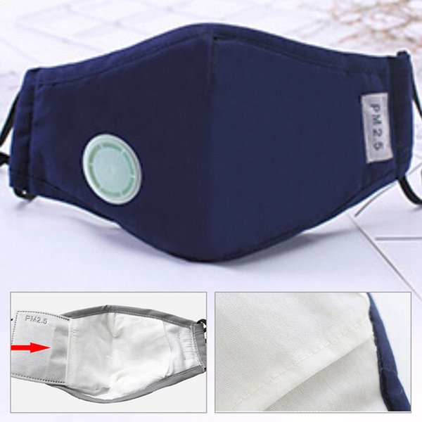 Exchangeable Filter Plate Anti Pollution Mask Dust Respirator Washable Reusable Masks Cotton Unisex Mouth Muffle for Allergy/Travel/ Cycling