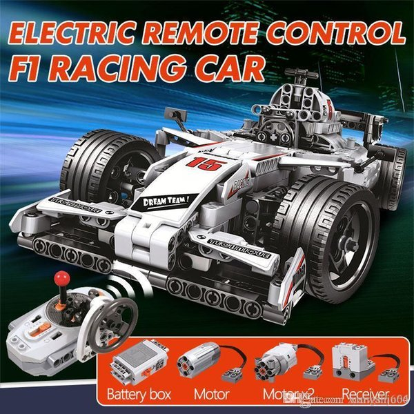 best selling 729pcs City F1 Racing Car Remote Control For ingly Technic RC Car Electric truck Building Blocks bricks Toys For Children