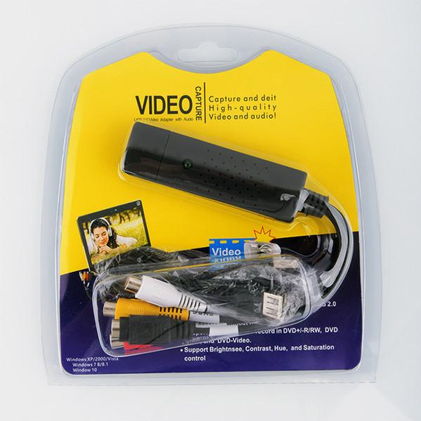 Convertisseur USB 2.0 VHS en DVD Convertir une vidéo analogique en format numérique Audio Vidéo DVD VHS Enregistrer une carte de qualité Adaptateur PC