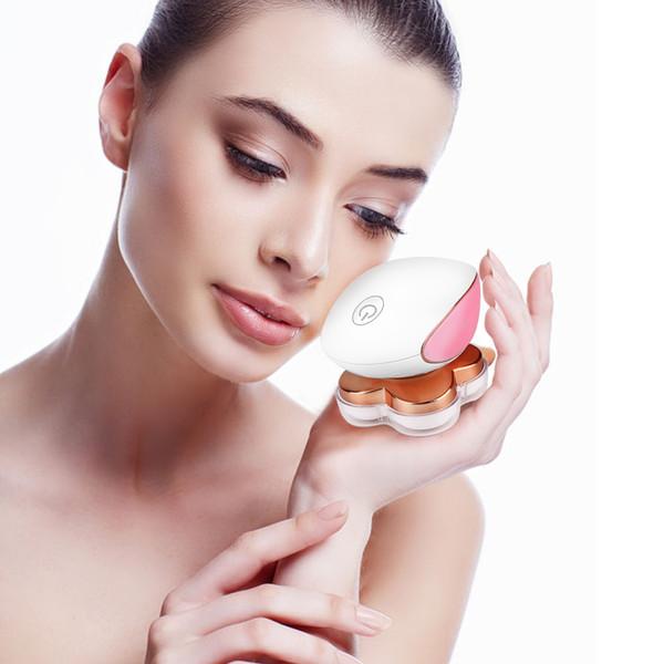 A remoção indolor Feminino Depilador elétrico Depilação Mulheres Shaver Bikini Cabelo Navalha Trimmer Facial Depilador Epilato corpo