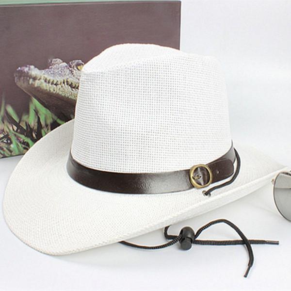 Women Summer Style Child sunhat Beach Men Hat Straw men\'s cowboy hats cap for men bucket hats with brim fedoras 1