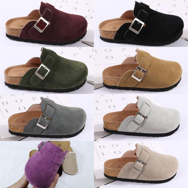 Çocuklar Mantar Sandalet PU Terlik Yaz Toka Erkek Kız Antiskid Çocuk Eğlence Terlik Ev Açık Plaj Rahat Ayakkabılar 10 Renk Sıcak C41301