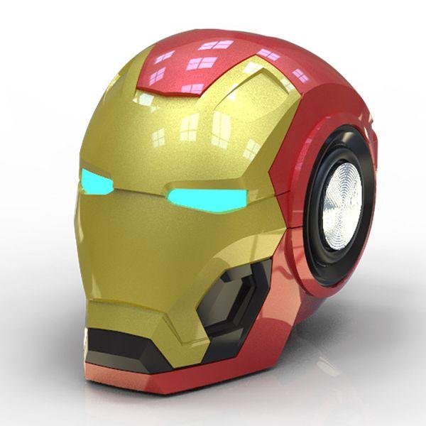 2019 Hot sale New Iron Man Bluetooth Soundbox Creative Gift Wireless Intelligent Radio Bass Card Cell Phone Audio high quality