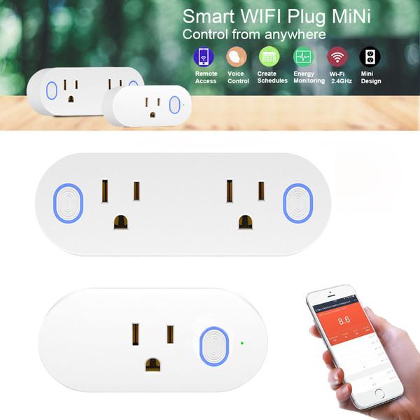 Compre Smart Home Wifi Enchufe Socket Oulet Smart Power Socket Aplicación Luces De Control Inalámbricas Módulos De Automatización Trabajar Con Alexa