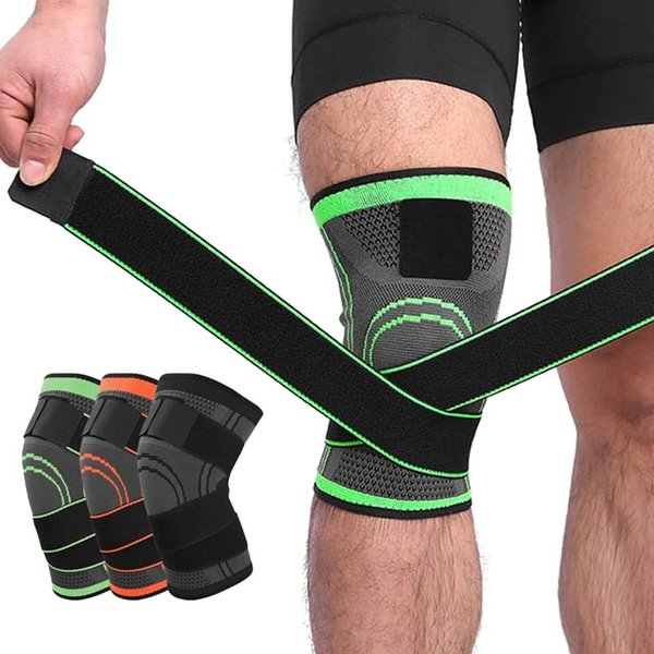 2019 1 × Exercise Compression Knee Pads 3D Sports Knee Brace Pad Support Protect Compression Fit For Runner/Jogging For Runner