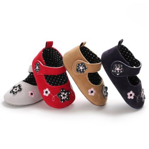 Newborn Toddler Baby Shoes Kid Girls Soft Soled Princess Crib Shoes Prewalker First Walkers Soft Cute