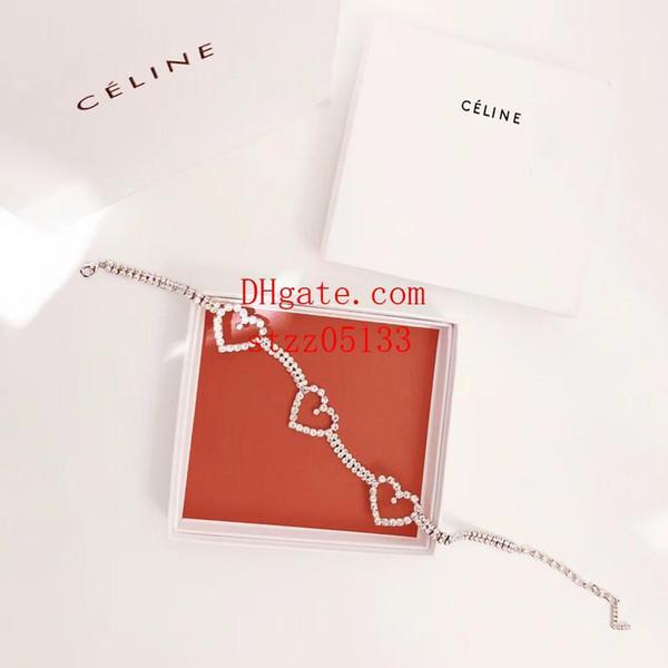 Yüksek kalite takı üç aşk kalp Tam elmas kolye Asya altın yüksek karbon matkap Kolye kolye takı kadın kolye AI-4
