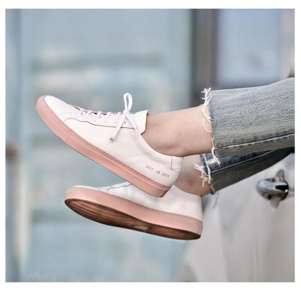 49a94628 Nuevos proyectos comunes de mujer Blanco Rosa Aquiles Zapatos bajos de las  mujeres Zapatillas de deporte