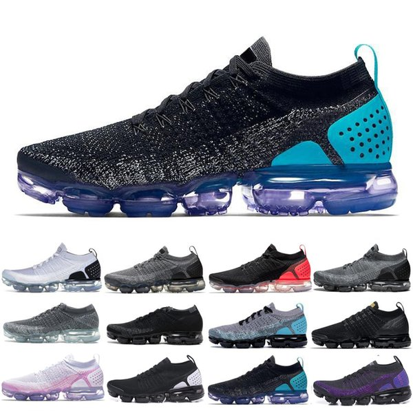 Knit 2.0 Fly 1.0 Running Shoes Sports Bumblebee Neptune Blue Fireworks Purple mandarin duck Pigeon For Men Women Casual Shoes GH684F