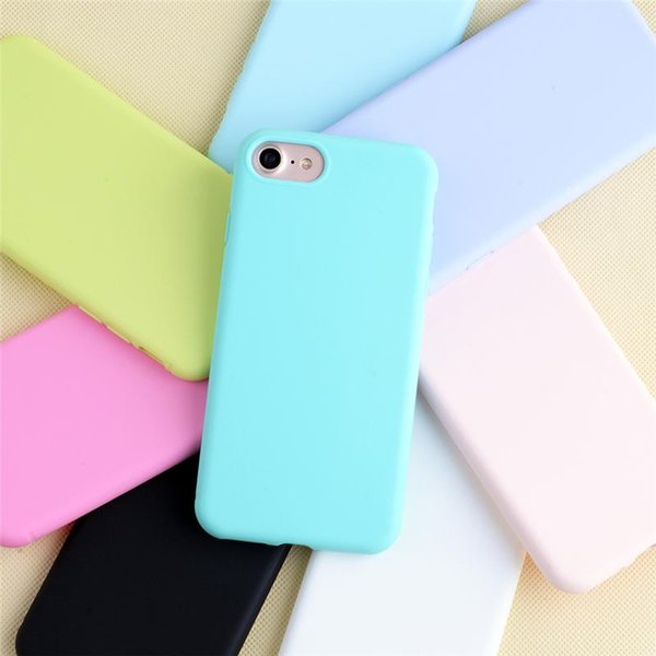 Macaron Candy Phone Case 18 Colors Matte Frosted TPU Phone Cover Ultra Thin Silicone Phone Shell Shockproof Back Cover For iPhone X XS