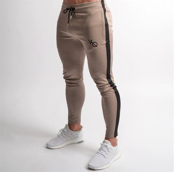 Erkek Joggers Rahat Pantolon Spor Erkek Spor Eşofman Altları Sıska Sweatpants Pantolon Siyah Jogging Yapan Parça Pantolon
