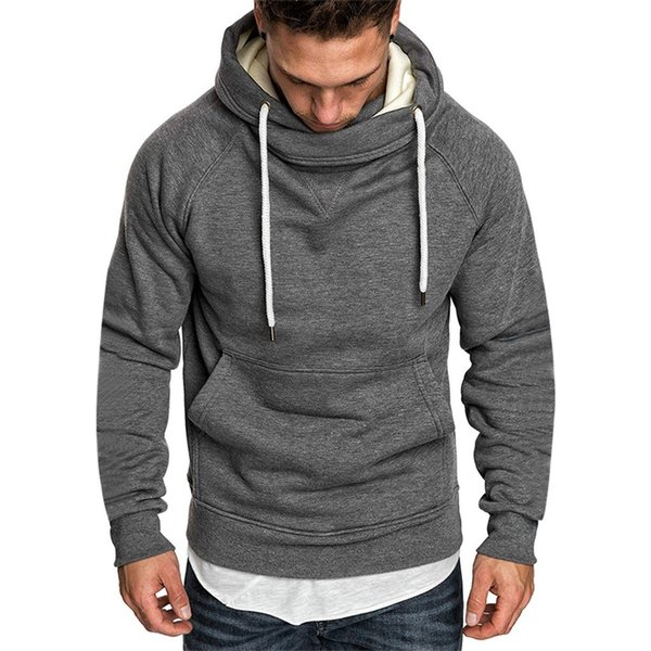 Men Hoodie Fashion Long-sleeved Round Neck Solid Color Printing Tops men's pullover Male Sweatshirt Traksuit Pullover Hoody NEW