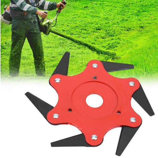 Top Quality 6T Garden Lawn Mower Blade Manganese Steel Grass Trimmer Brush Cutter Head For Lawn Mower