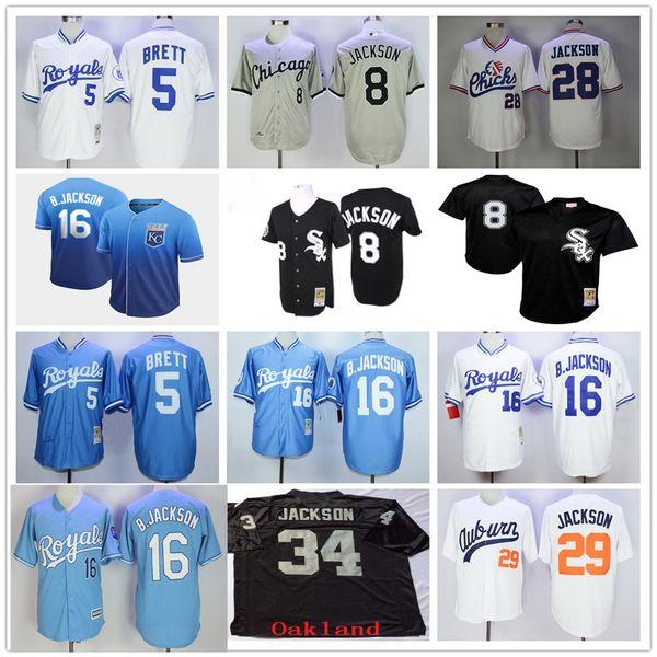 Vintage KC Royals # 16 Bo Jackson # 29 B.Jackson White Sox # 8 Kansas City # 5 George Brett 1987 1980 1991 1991 Maglie