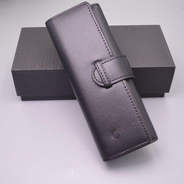 2019 New Arrial Luxo Couro Preto mb Pen Bolsa Saco Para O Presente de Alta Qualidade Marca Pen Case Set Acessórios + Dom Caneta Caixa + Manual