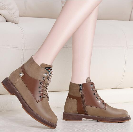 Brand Men's Women's Boots Martens Leather Winter Warm Shoes Motorcycle Mens and Womens Ankle Boot Doc Martins Autumn Men Oxfords Shoe