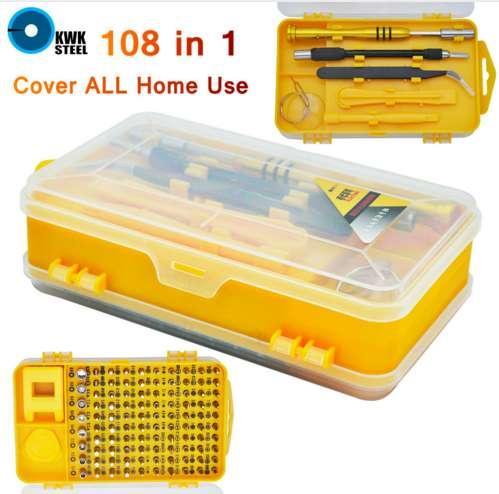 Juego de herramientas para el hogar Ordenador PC PC Teléfono móvil Gafas Teléfono Digital Reparación de dispositivos electrónicos Herramientas caseras Bit 108pc 108 en 1