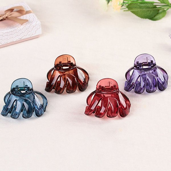 Korean Style Women Lady Hair Claw Acrylic Hair Clips Barrette Crab Clamp Pins Ornaments Accessories Capelli