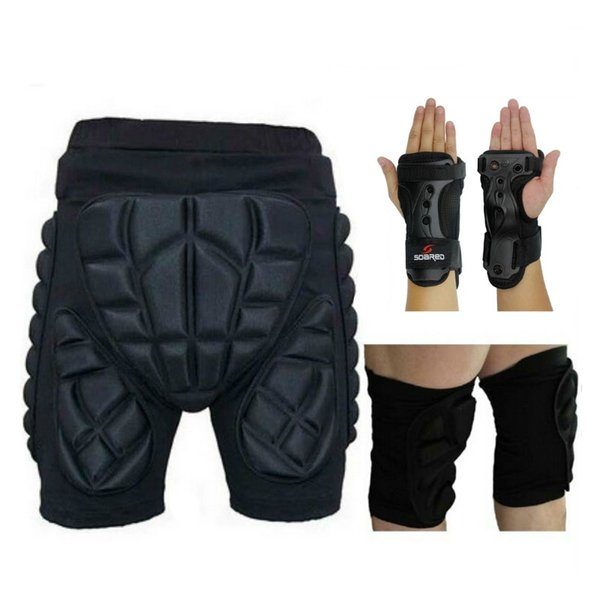 Outdoor Sports Protective Hip Pad Knee Pads Wrist Palm Support Roller Skating Snowboard Skiing Impact Extreme Sport Protection #18409