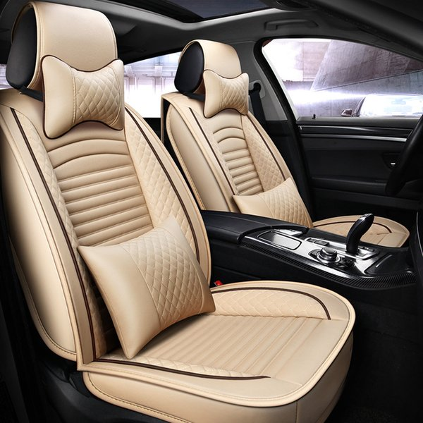 Sensational Latest Pu Leather Auto Car Seat Covers For Toyota Hyundai Kia Lexus Bmw Waterproof Universal Size Automobile Covers Seat Cover For Truck Seat Cover Ibusinesslaw Wood Chair Design Ideas Ibusinesslaworg