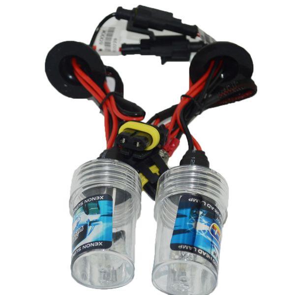 2x AC 12 V 55 w Xenon HID Lâmpadas de luz de Substituição do farol H1 H3 H4 H7 H11 9005 9006 6000 K Branco kit de conversão HID