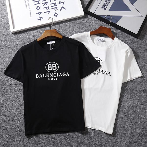 T-shirt à la mode classique à manches courtes et encolure T-shirt de sport BB MODE T-shirt à manches courtes style Kanye West Letters.
