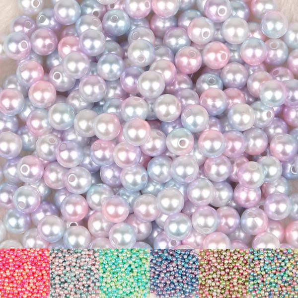 50-500 pcs 4 6 8 10 12mm ABS Imitação de Pérolas Beads Rodada Solta Pérolas Artesanal DIY Colar Pulseira Jóias Fazendo acessórios
