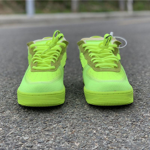 2019 New Arrivals Forces Volt Running Shoes Women Mens Trainers Forced One Sports Skateboard Classic mesh Green White Black Warrior Sneaker