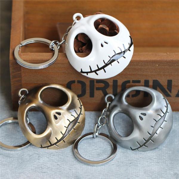 Cartoon Skull Key Chain Ring Fashion Halloween Devil Skull Pumpkin Keychain Keyring Christmas Accessories Gifts 3style
