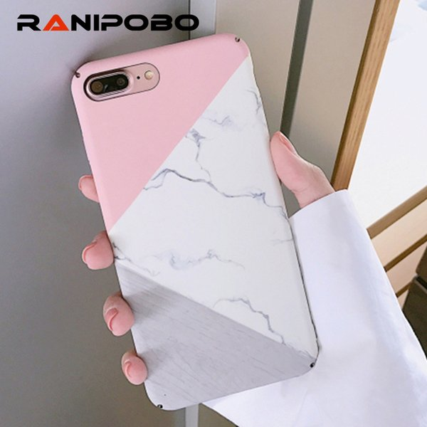 Fashion Granite Scrub Marble Phone Cases For Iphone 6 6s Plus 7 8 Plus 5 5s Se Plastic Hard Back Cover Case For Iphone X Xs Max