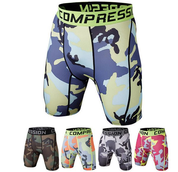 High Quality Compression Mens Camouflage 3D Pants Brand Clothing Printed Trousers Fitness Tights Short Crossfit Men's Shorts