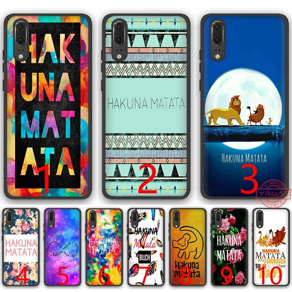 hakuna matata The Lion King Soft Silicone Black TPU Phone Case for Huawei P8 P9 P10 P20 Lite Pro P Smart Cover