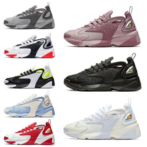 Acquista Nike M2k Tekno Zoom Nuovo Triple Black M2k Tekno Zoom 2K Uomo Donna Scarpe Da Corsa Crema Bianco Race Rosso Royal Blue Sneakers Sportive