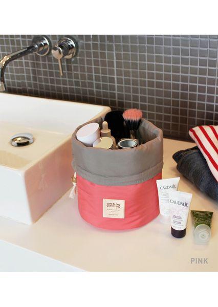 New Mulheres Viagem Cosmetic Bag Cubos embalagem portátil Make Up Bags Dresser Pouch pacote bolsa de viaje sac de voyage Bucket Bag