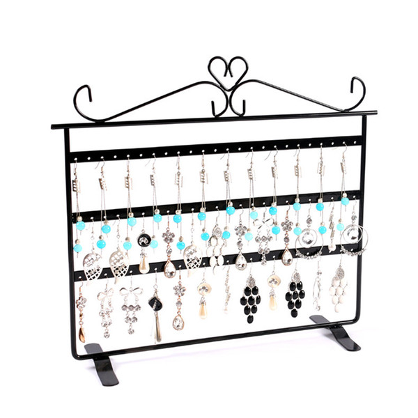 72 Holes Dangle Jewelry Display Stand Holder 3 Layer Metal Earrings Jewelry Nacklace Chain Bracelet Display Rack Jewelry Accessories for Gir