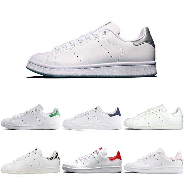 Clásico Juvenil Stan Smith ligeros recorrer ocasional de excursión los zapatos de diseño zapatos del patín para el tamaño para hombre de plata de las mujeres Azul marino Rojo Azul 36-45