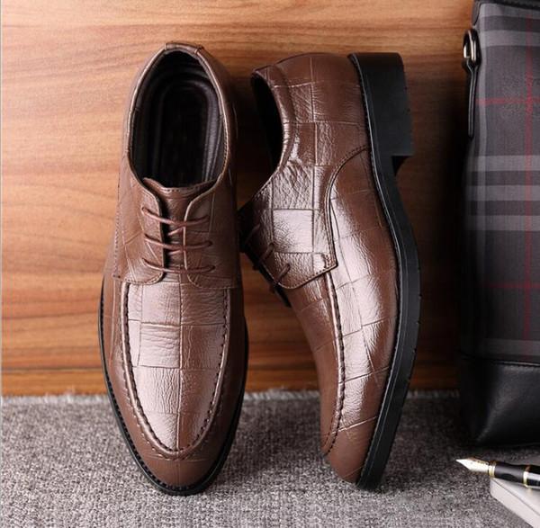 Adicionar LOGO para livre Vestido sapatos versão coreana do negócio casual sapato British business sapatos Sapato italiano mens designer sapatos G5.29