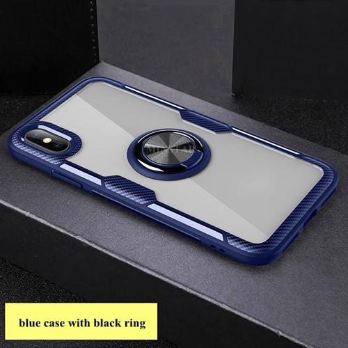 #1 blue case with black ring