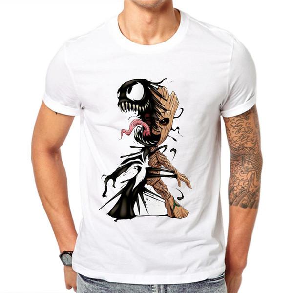 Neue Verkauf Männer T-Shirt Und Venom Herrenbekleidung Gedruckt Lustige T-shirts Beiläufige Kurzarm Tops 100% Baumwolle T-shirt Für Mann