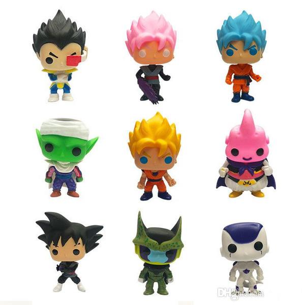 FUNKO POP Dragon Ball Z Oğlu Karikatür Goku Vegeta Piccolo Hücre PVC Action Figure Koleksiyon Modeli Perakende aksiyon figürleri sürpriz bebek