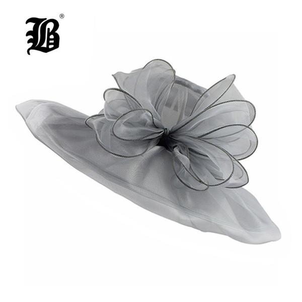 [FLB] Elegant Fashion Women's Church Hats For Women Flower Hat Summer Gorras Sun Hat Wedding Kentucky Derby Wide Brim Sea Beach