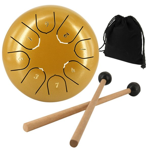 top popular 6 Inch Steel Tongue Drum Handpan 8 Notes C Key Percussion Instrument Gifts for yoga Music Instrument 2021
