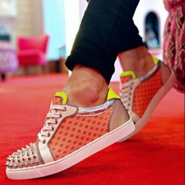 Cheap Sports Designer Mesh Spikes Orlato Low Top Junior Red Bottom Sneaker Shoes For Women,Men Loubitag Walking Shoes,Evening Dress