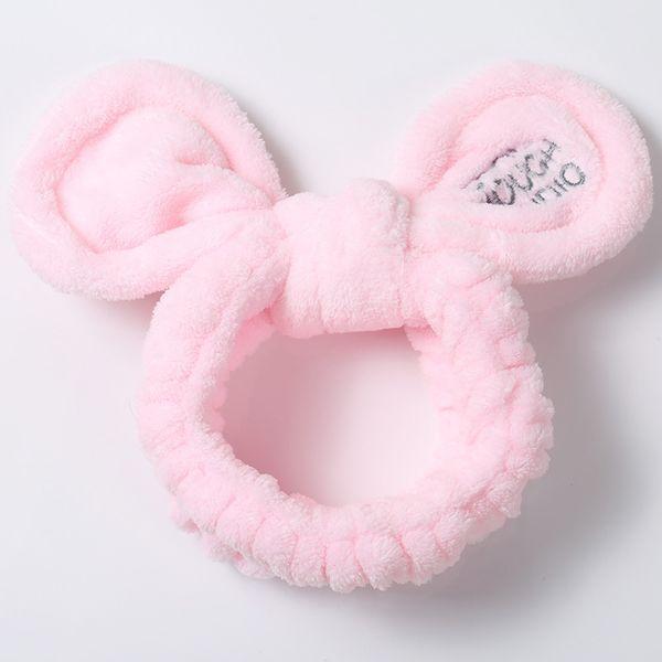 Cute Plush Rabbit Ear Hair Band Wash Lady Headband Bathroom Bathing Fashion Bear Headdr Girl Hair Accories For Women