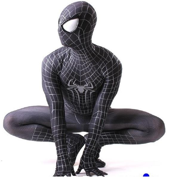 civil war custom amazing zentai spiderman suit cosplay black spider man costume adult spandex 3d kids adulto halloween mask civil war