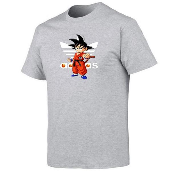 Hombres Mujeres Camiseta Dragon Ball Z Camiseta Goku DBZ Anime Top Tees Ropa de algodón Insaiyan Casual Boy Graphic Basic suave